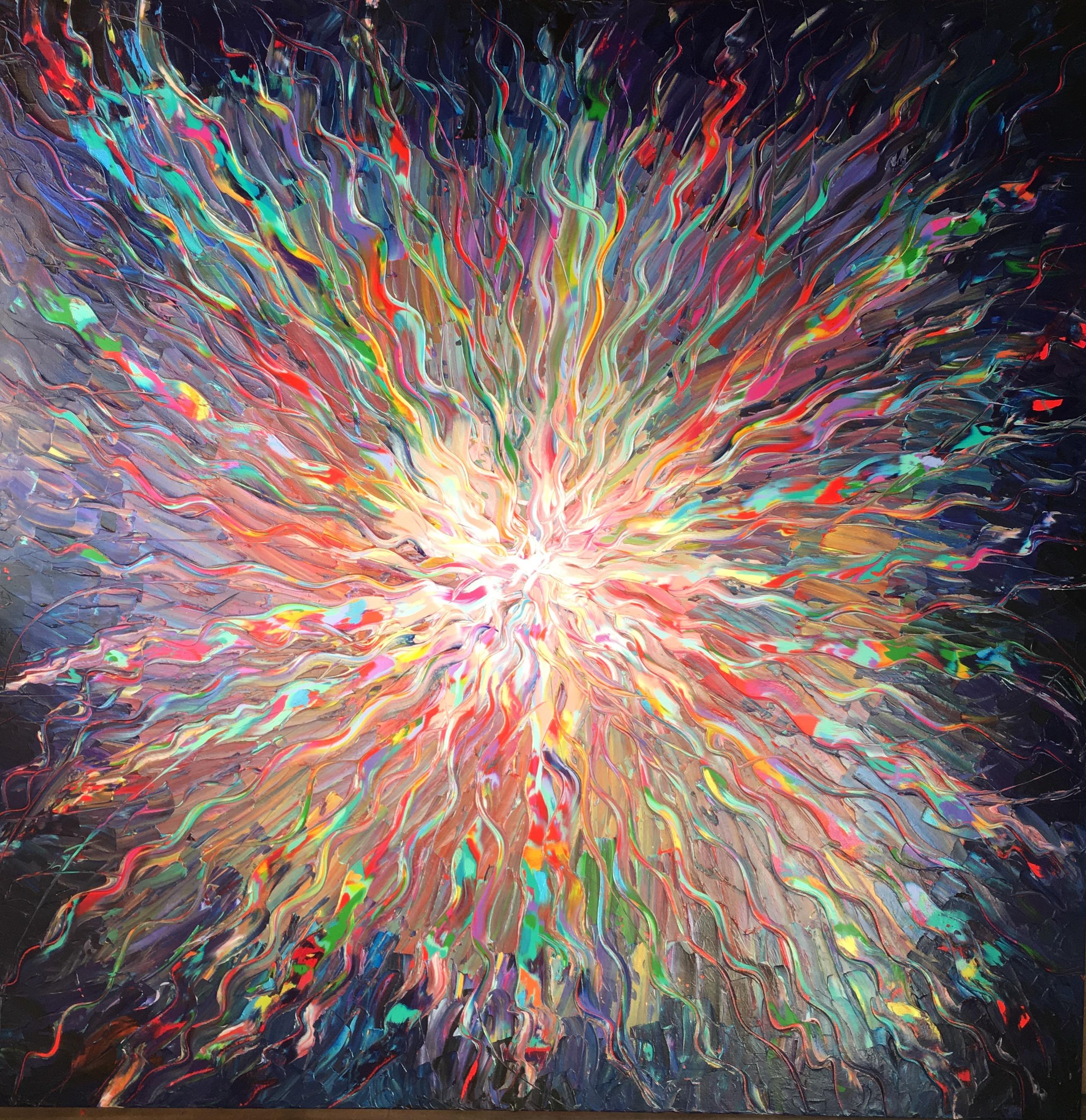La série Solar Plasma a pour thème central la force brute de la Vie. L'artiste par une peinture forte, presque violente, faite de couleurs crues et de gestes puissants, nous offre sa vision de l'énergie prima le du BigBang, des origines de la Vie. Lysa parvient à capturer la lumière et nous la restitue grâce au jeu des couleurs, des tracés mouvants et puissants qu'elle sculpte au couteau à peindre. Il en résulte une oeuvre en relief, hybride, à mi-chemin entre peinture et sculpture.