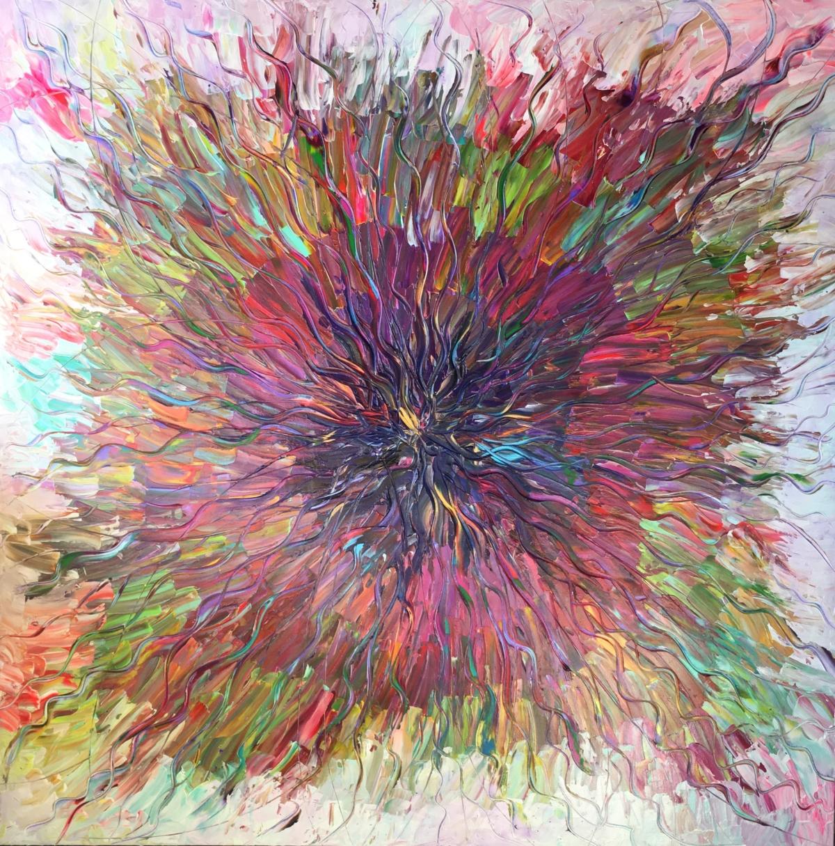La série Solar Plasma a pour thème central la force brute de la Vie. L'artiste par une peinture forte, presque violente, faite de couleurs crues et de gestes puissants, nous offre sa vision de l'énergie primale du BigBang, des origines de la Vie. Lysa parvient à capturer la lumière et nous la restitue grâce au jeu des couleurs, des tracés mouvants et puissants qu'elle sculpte au couteau à peindre. Il en résulte une oeuvre en relief, hybride, à mi-chemin entre peinture et sculpture.