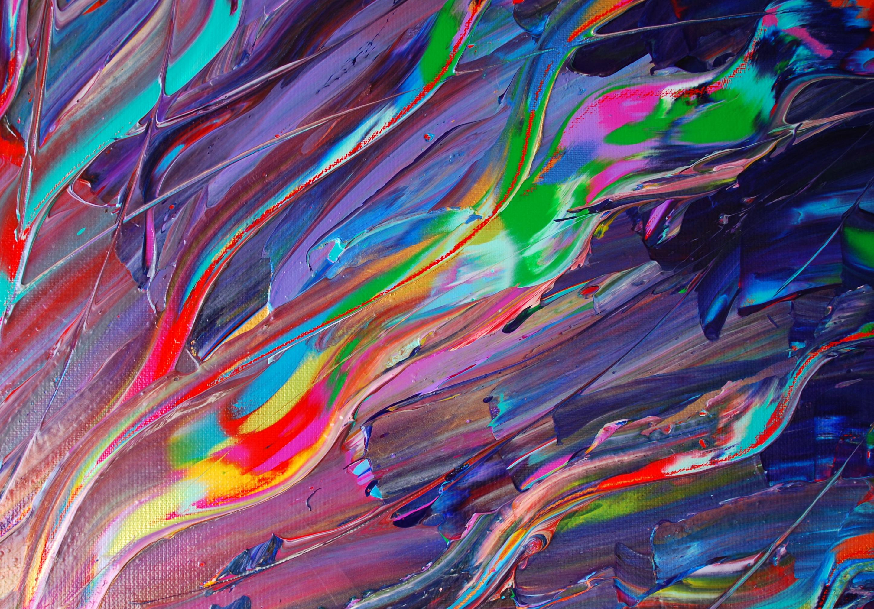 Details des oeuvres de la série Solar Plasma.La série Solar Plasma a pour thème central la force brute de la Vie. L'artiste par une peinture forte, presque violente, faite de couleurs crues et de gestes puissants, nous offre sa vision de l'énergie primale du BigBang, des origines de la Vie. Lysa parvient à capturer la lumière et nous la restitue grâce au jeu des couleurs, des tracés mouvants et puissants qu'elle sculpte au couteau à peindre. Il en résulte une oeuvre en relief, hybride, à mi-chemin entre peinture et sculpture.